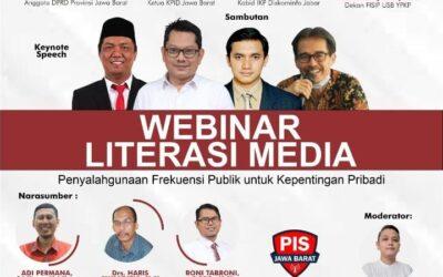 VIRTUAL WEBINAR LITERASI MEDIA FAKULTAS ILMU POLITIK DAN ILMU SOSIAL DENGAN KOMISI PENYIARAN INDONESIA DAERAH PROVINSI JAWA BARAT